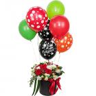 Композиция «Любовь» с гелиевыми шарами
